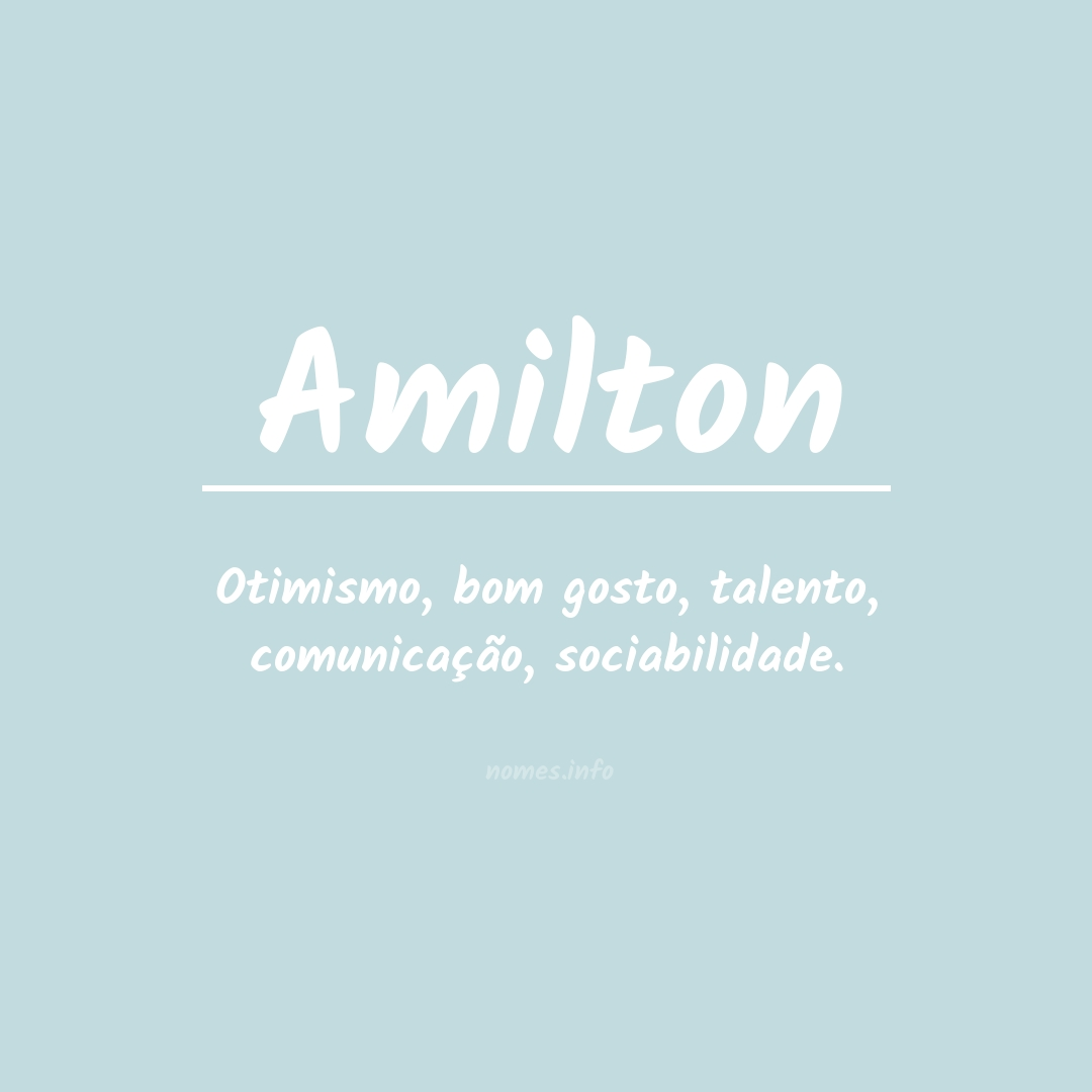 Significado do nome  Amilton
