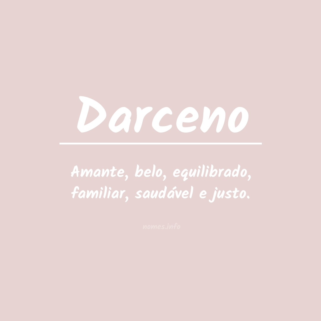 Significado do nome  Darceno