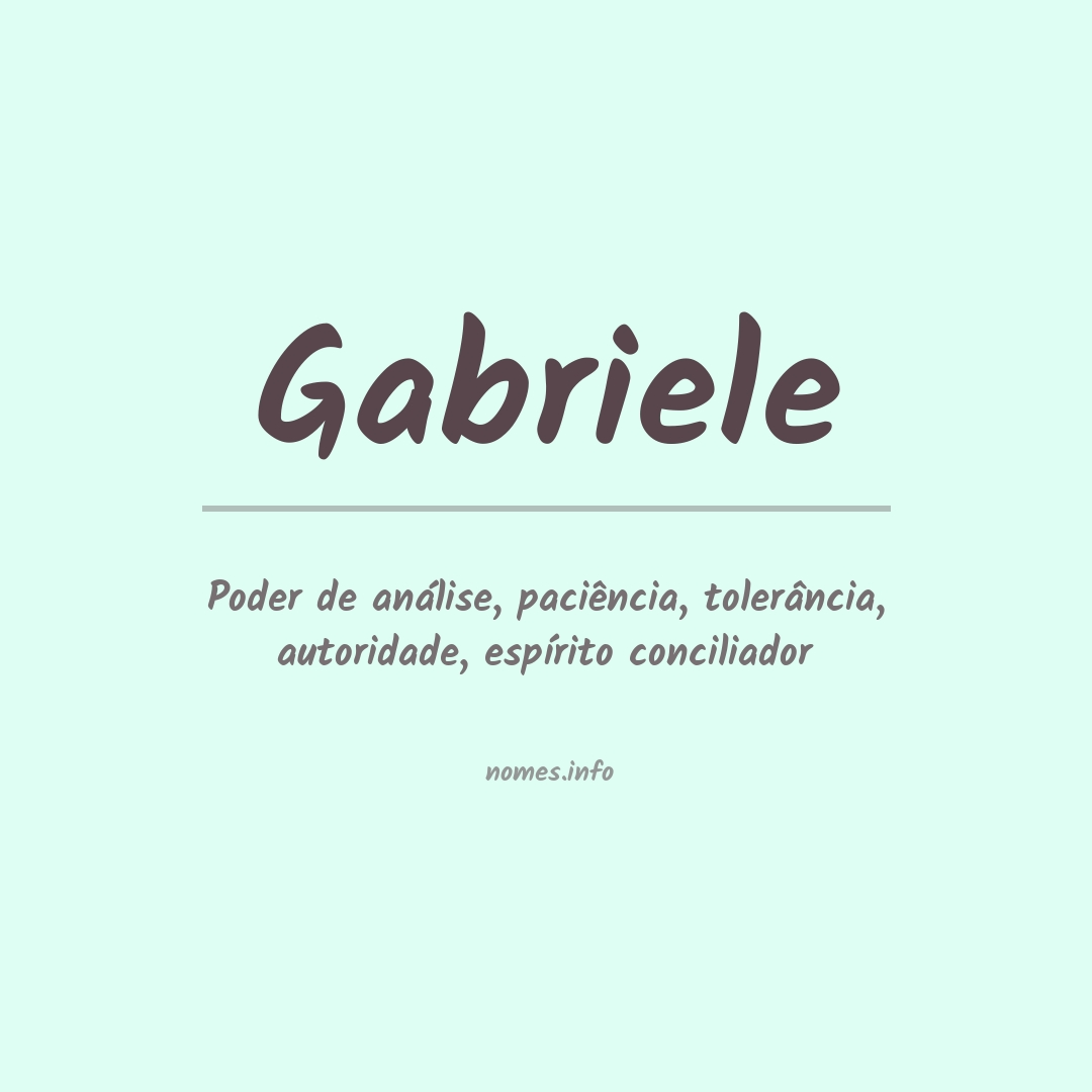 Significado do nome  Gabriele