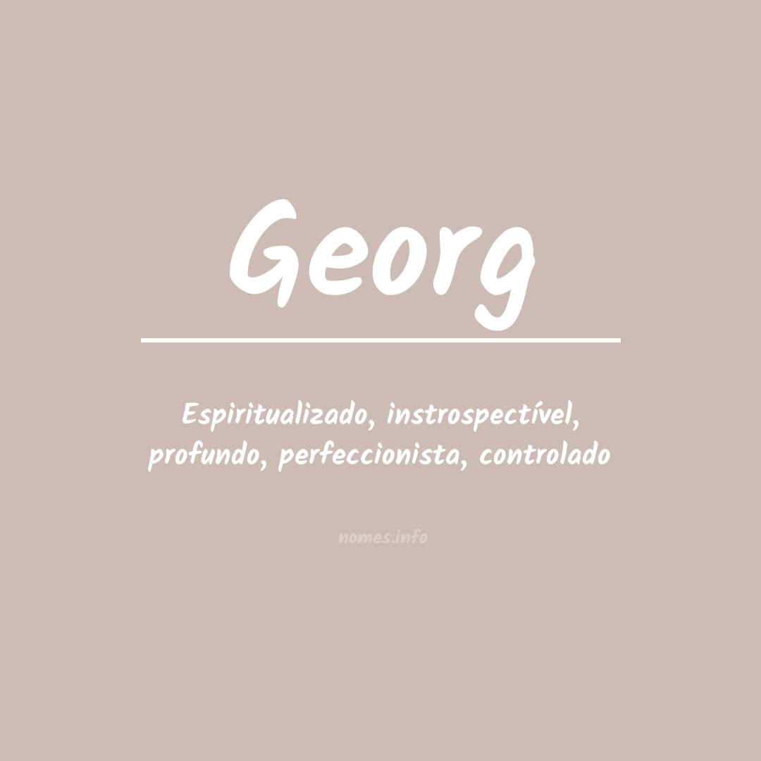 Significado do nome  Georg