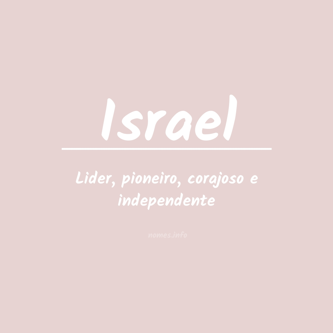 Significado do nome  Israel