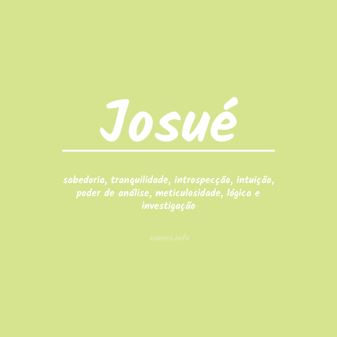 Significado do nome  Josué