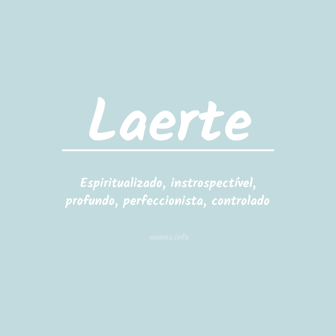 Significado do nome  Laerte