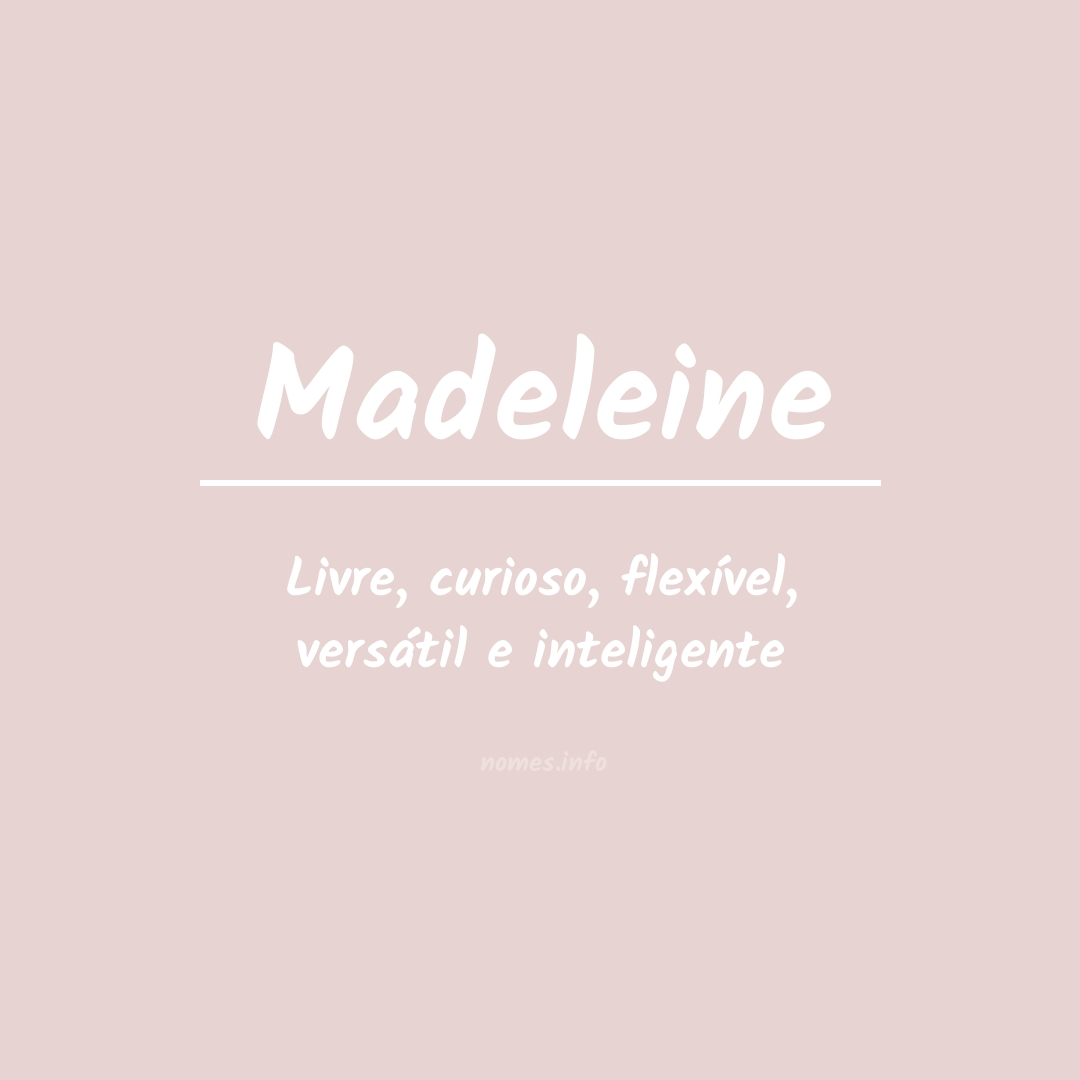 Significado do nome  Madeleine