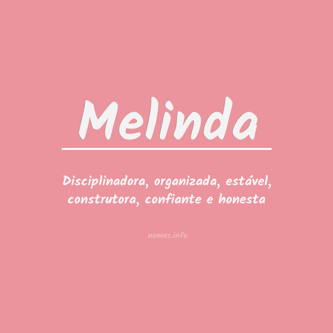 Significado do nome  Melinda