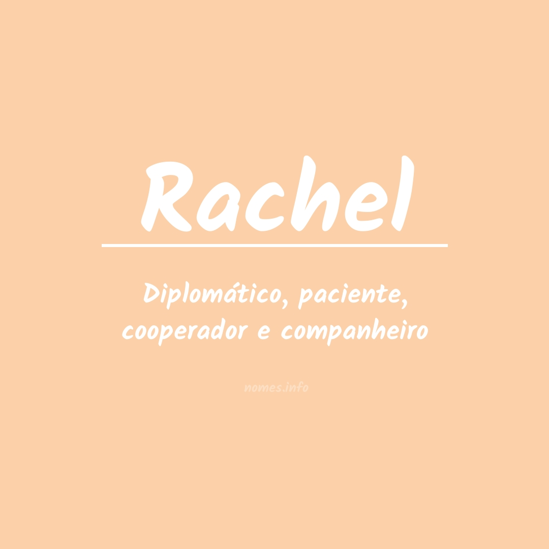 Significado do nome  Rachel