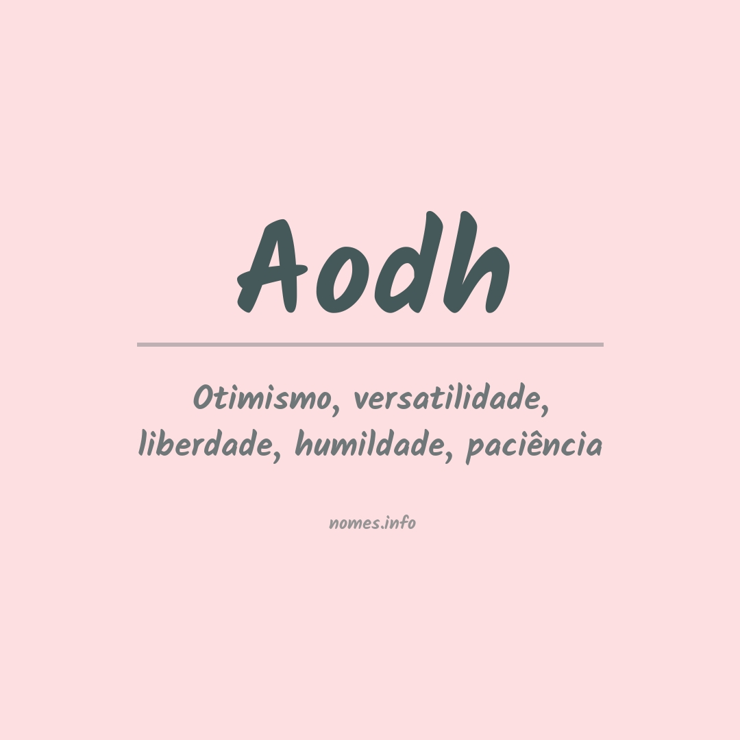 Significado do nome  Aodh