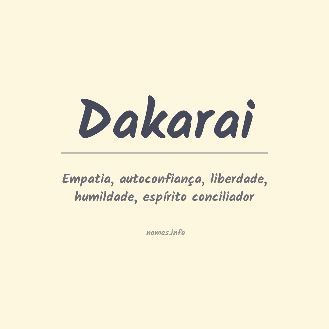 Significado do nome  Dakarai