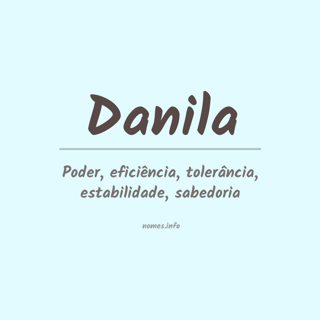 Significado do nome  Danila