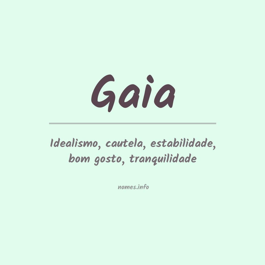 Significado do nome  Gaia