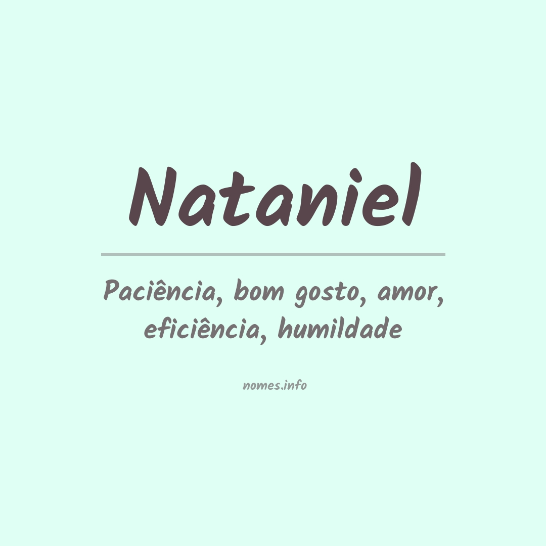 Significado do nome  Nataniel