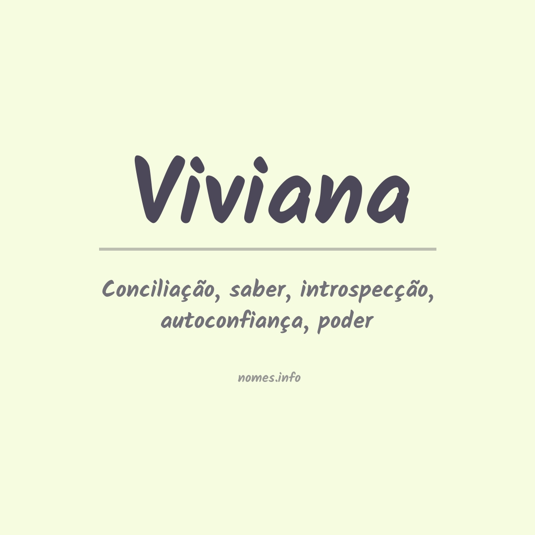 Significado do nome  Viviana