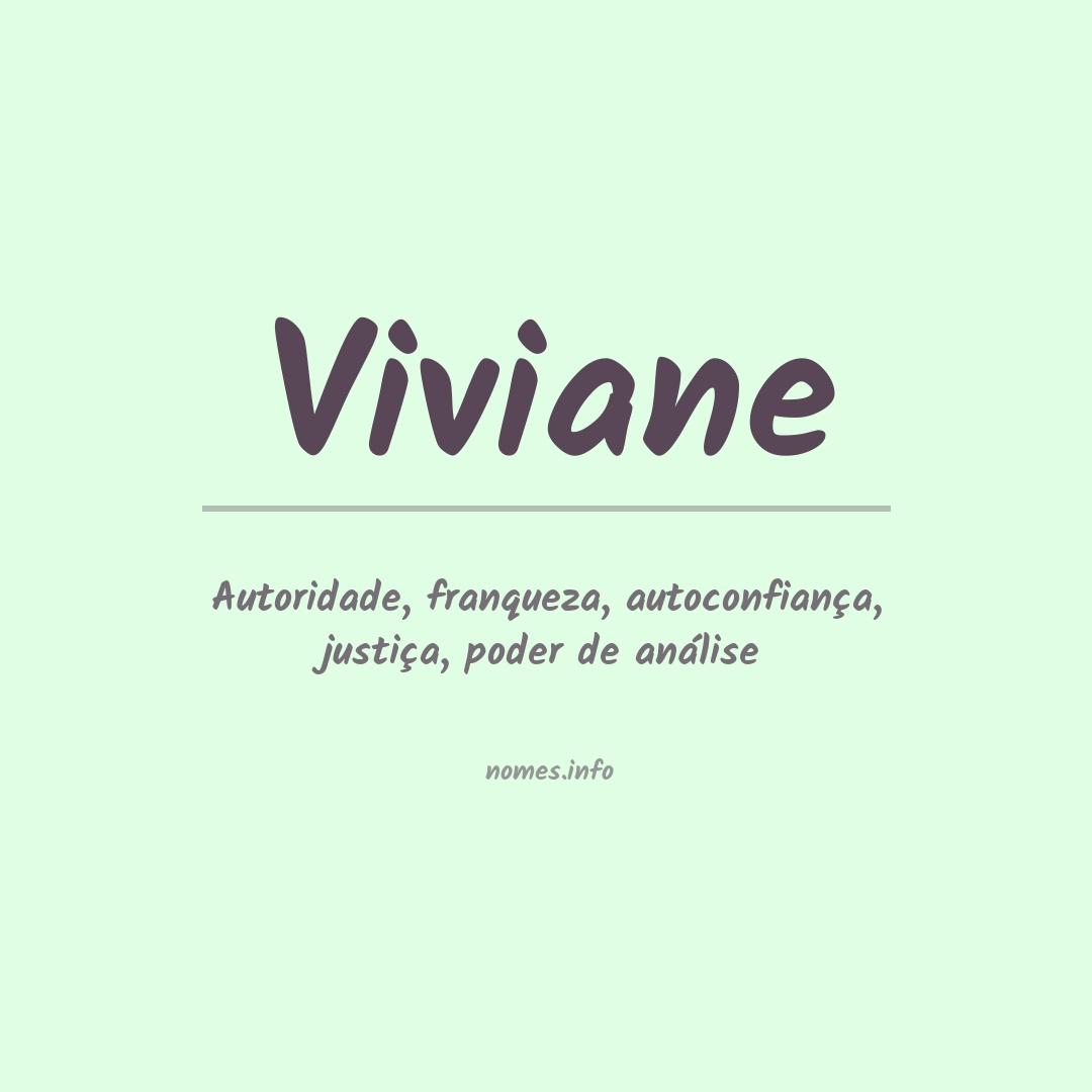 Significado do nome  Viviane