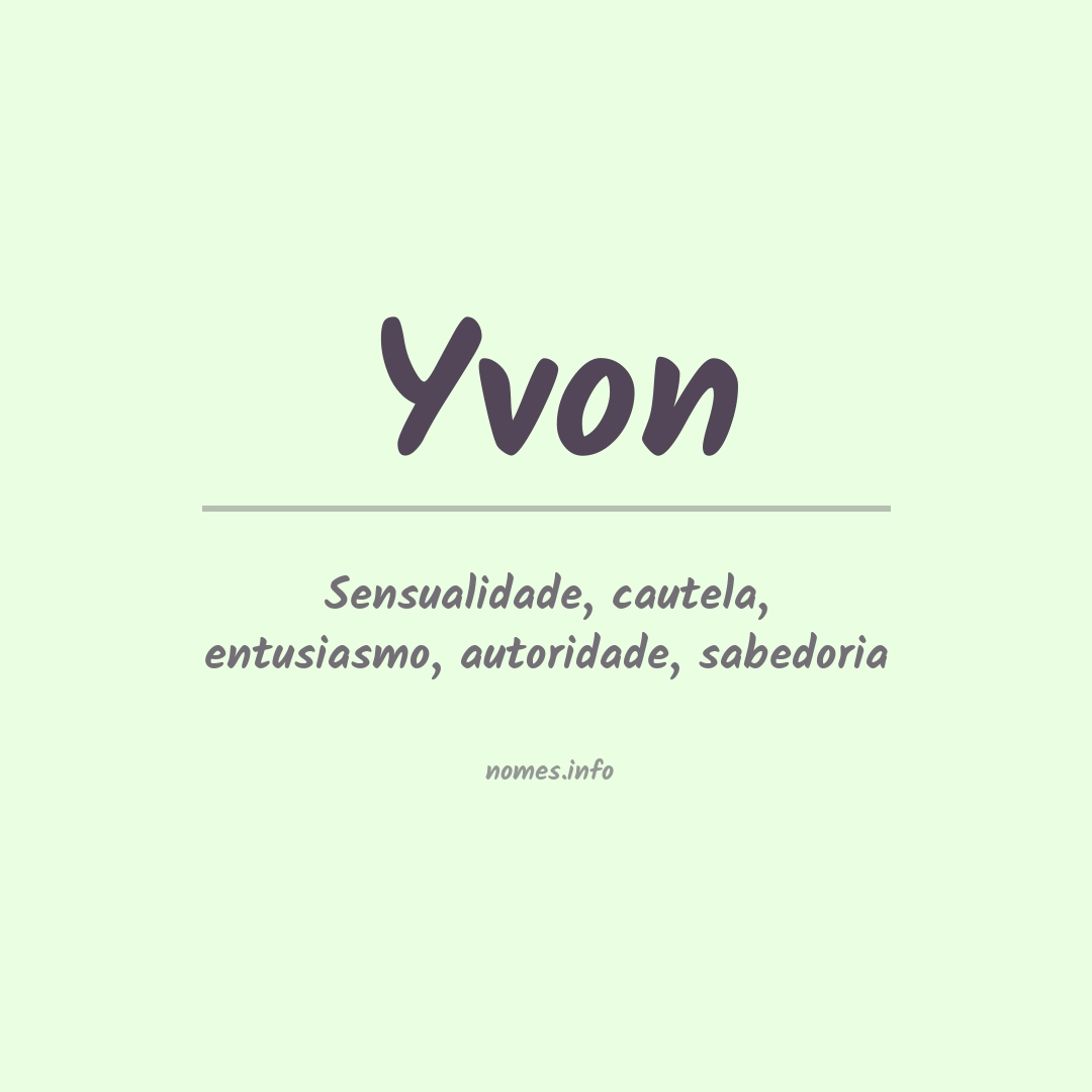 Significado do nome  Yvon